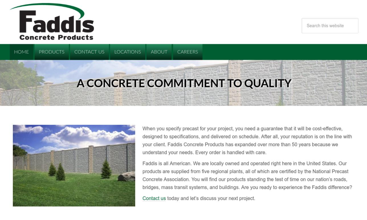 Faddis Concrete Products